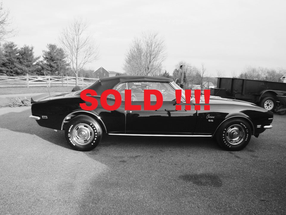 1968 Camaro SS Convertible SOLD SOLD SOLD